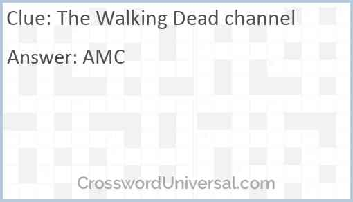 The Walking Dead channel Answer