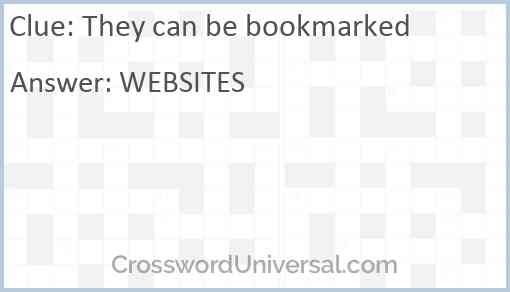 They can be bookmarked Answer