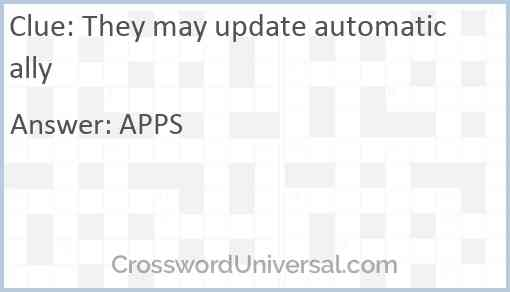 They may update automatically Answer
