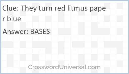 They turn red litmus paper blue Answer