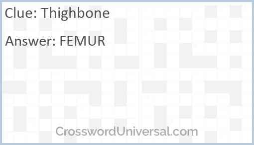 Thighbone Answer