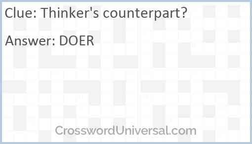 Thinker's counterpart? Answer