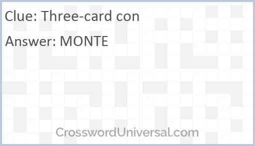 Three-card con Answer