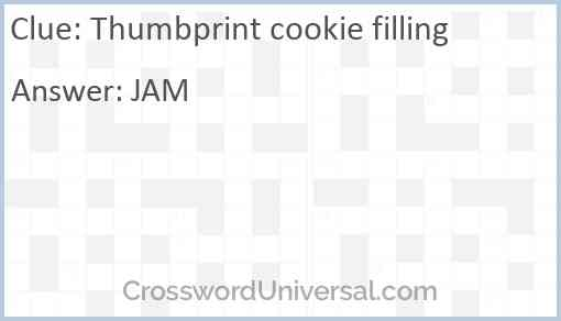 Thumbprint cookie filling Answer