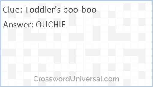 Toddler's boo-boo Answer