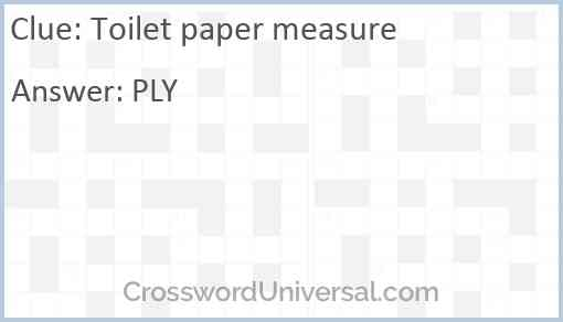 Toilet paper measure Answer