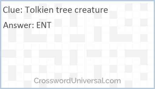 Tolkien tree creature Answer
