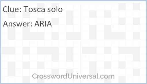 Tosca solo Answer