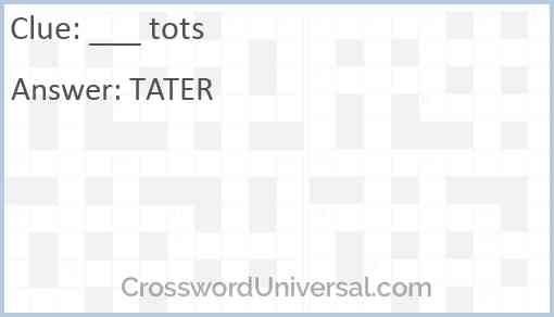 ___ tots Answer