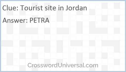 Tourist site in Jordan Answer