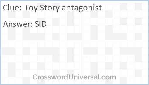 Toy Story antagonist Answer