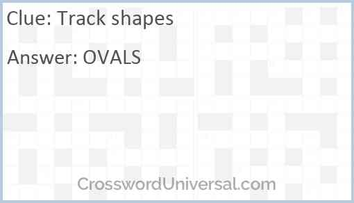 Track shapes Answer