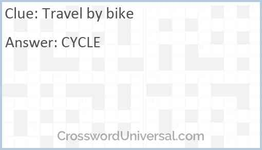 Travel by bike Answer