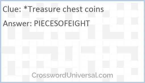 *Treasure chest coins Answer