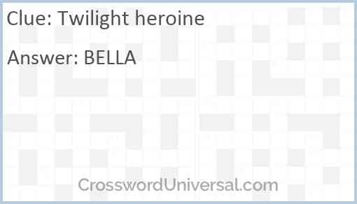 Twilight heroine Answer