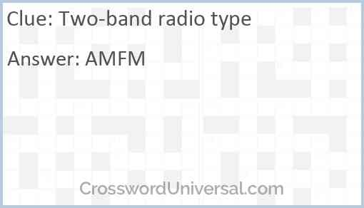 Two-band radio type Answer