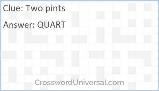 Two pints Answer