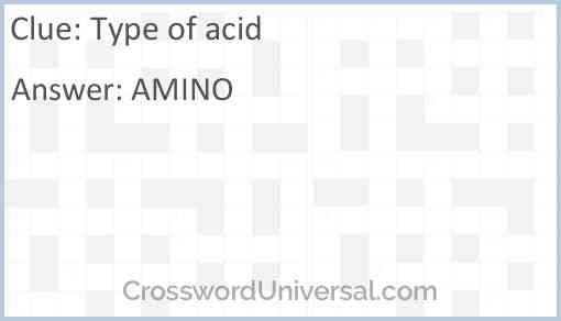 Type of acid Answer