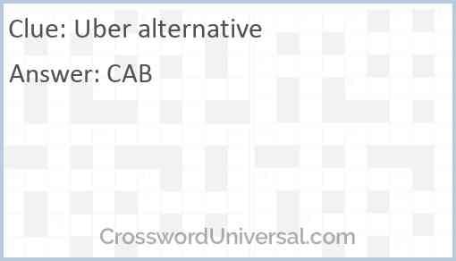 Uber alternative Answer