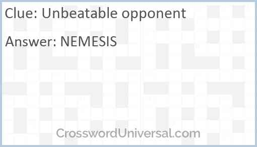Unbeatable opponent Answer