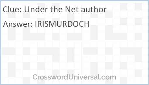 Under the Net author Answer