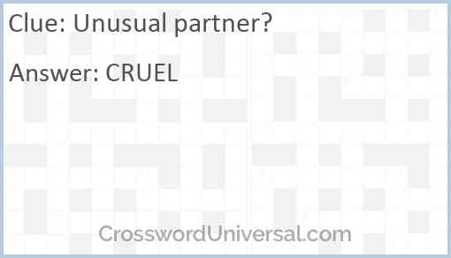 Unusual partner? Answer