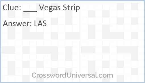 ___ Vegas Strip Answer