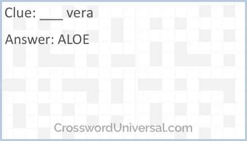 ___ vera Answer