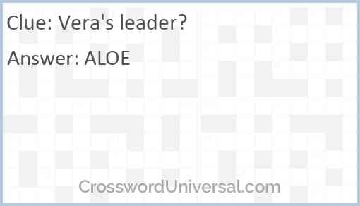 Vera's leader? Answer