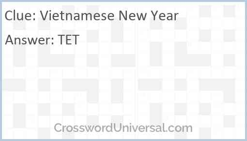 Vietnamese New Year Answer