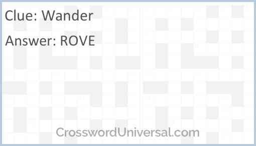 Wander Answer