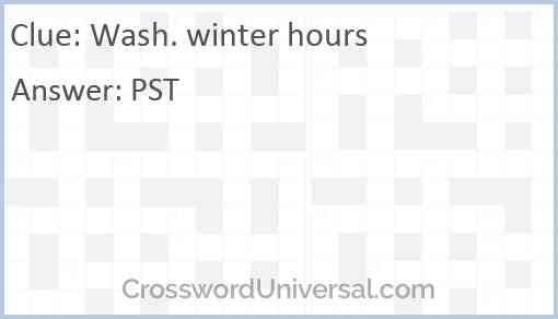 Wash. winter hours Answer