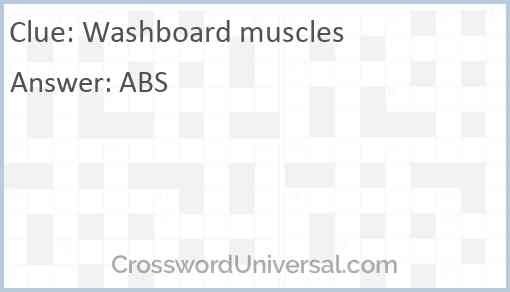 Washboard muscles Answer