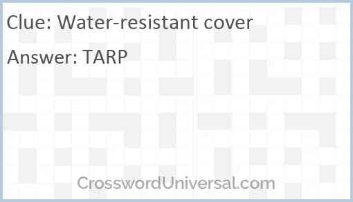 Water-resistant cover Answer