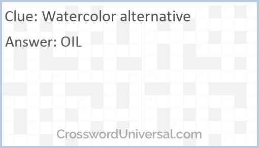 Watercolor alternative Answer