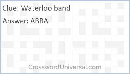 Waterloo band Answer