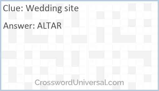 Wedding site Answer
