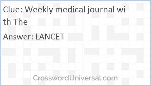 Weekly medical journal with The Answer