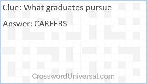 What graduates pursue Answer