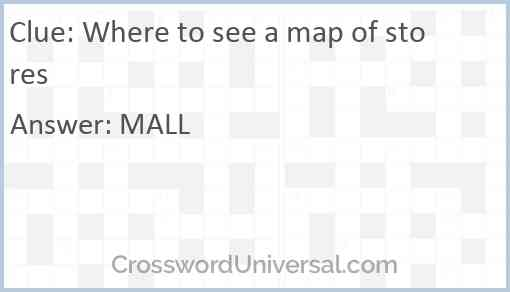 Where to see a map of stores Answer