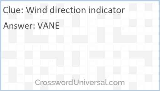 Wind direction indicator Answer