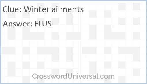 Winter ailments Answer