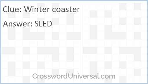 Winter coaster Answer