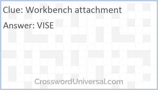 Workbench attachment Answer