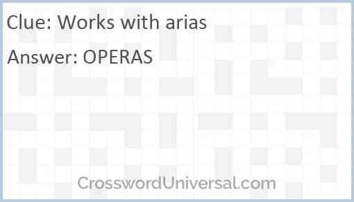 Works with arias Answer