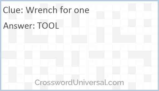 Wrench for one Answer