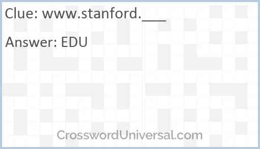 www.stanford.___ Answer