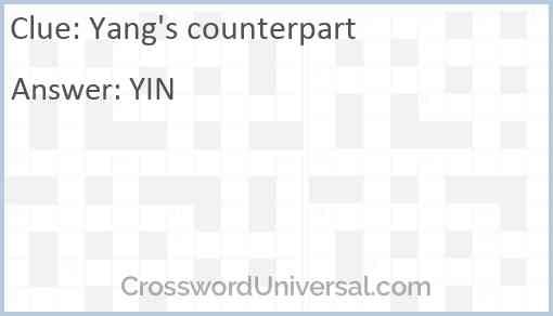 Yang's counterpart Answer