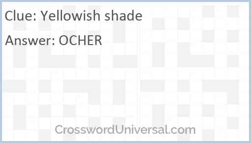 Yellowish shade Answer