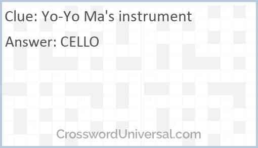 Yo-Yo Ma's instrument Answer
